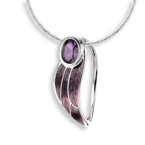 nicole-barr-sterling-silver-contoured-leaf-necklace-purple-amethyst-nn0164sc