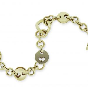 Janet Isherwood Jewellery 9ct Yellow & 18ct White Gold Bracelet