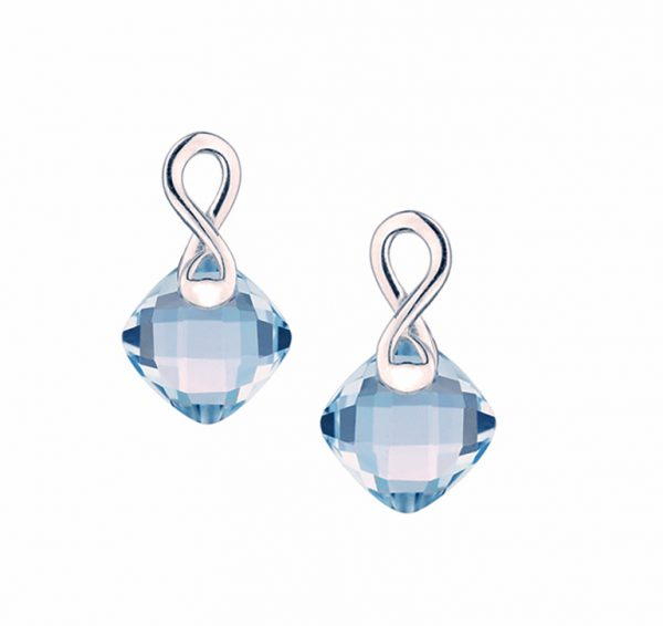 Amore blueberry zest 9ct white gold blue topaz earrings 8104WBT