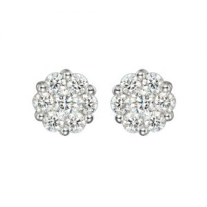 Trace 18ct White Gold Diamond Stud Earrings E283/.25/W18