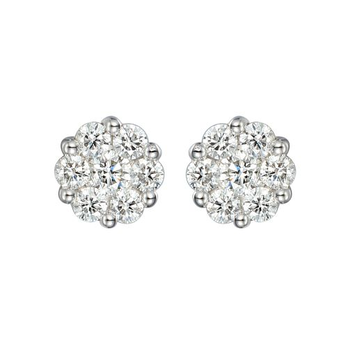 Trace 18ct White Gold Diamond Stud Earrings E283/.25/W18