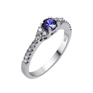 Janet Isherwood Jewellery white gold sapphire and diamond ring JIR022