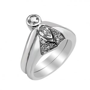 Janet Isherwood Jewellery 18ct white gold diamond ring JIR023