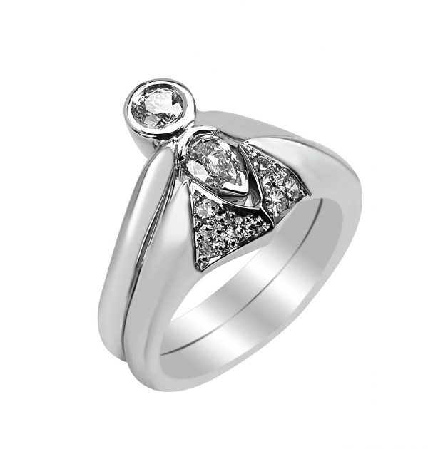 Janet Isherwood Jewellery 18ct white gold diamond ring JIR023