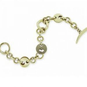 Janet Isherwood Jewellery 9ct yellow gold and 18ct white gold bracelet