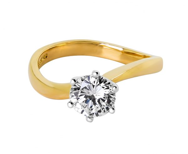 Janet Isherwood Jewellery solitaire diamond ring JIR018